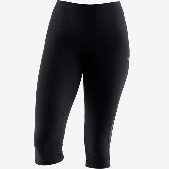 520 Women's Gentle Gym & Pilates Cropped Bottoms - Black