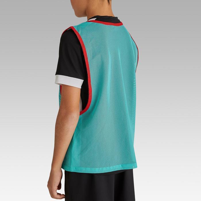 兒童款球隊運動訓練背心- 藍綠色