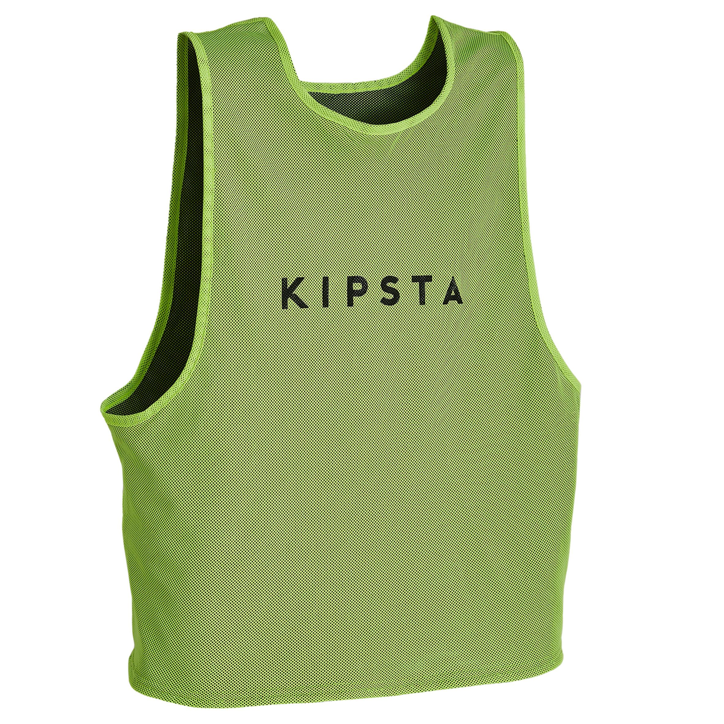 KIPSTA. Pettorina reversibile giallo-blu