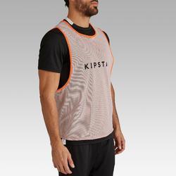 Trainingsleibchen wendbar Erwachsene orange/grau