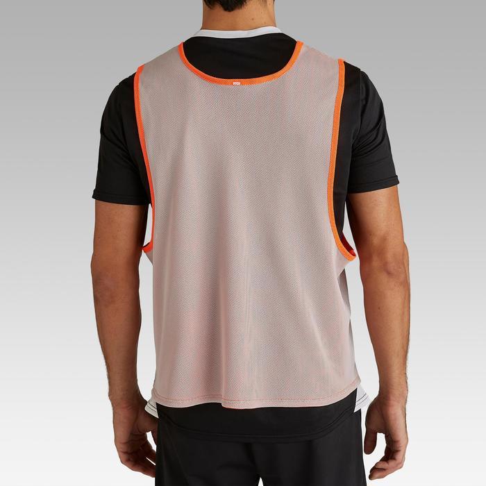 Trainingshesje volwassenen omkeerbaar oranje/grijs