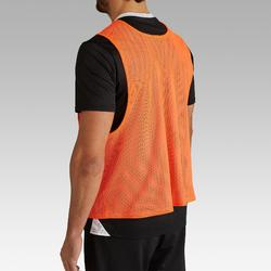 Chasuble adulte réversible orange gris