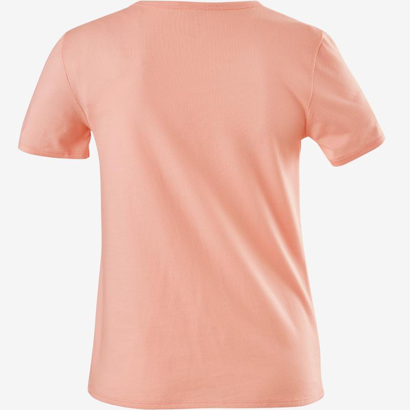 Girls' Short-Sleeved Gym T-Shirt 100 - Pink