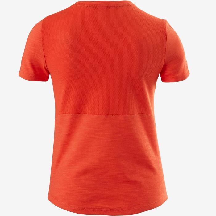 T-shirt korte mouwen ademend katoen 500 jongens GYM KINDEREN oranje