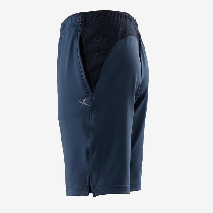 Ademende short voor gym jongens S500 synthetisch blauw
