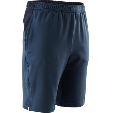 S500 Breathable Synthetic Gym Shorts Blue - Boys