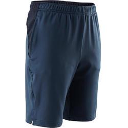Sporthose kurz Synthetik atmungsaktiv S500 Gym Kinder blau