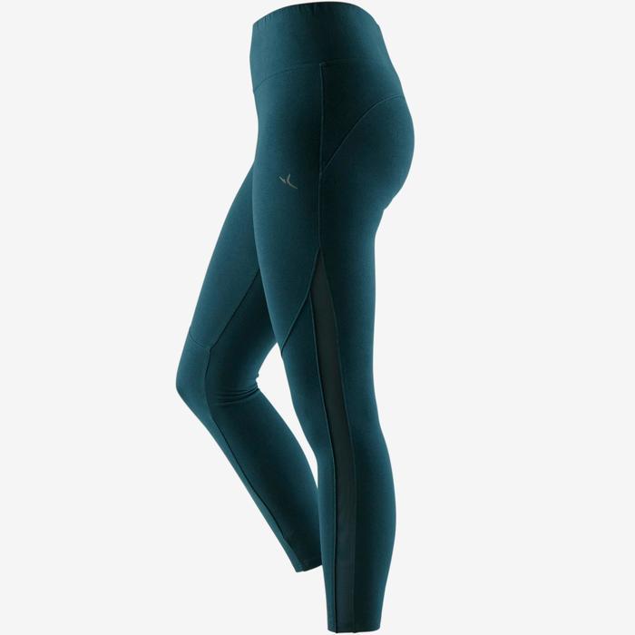 7/8-legging 520 pilates en lichte gym dames turquoise