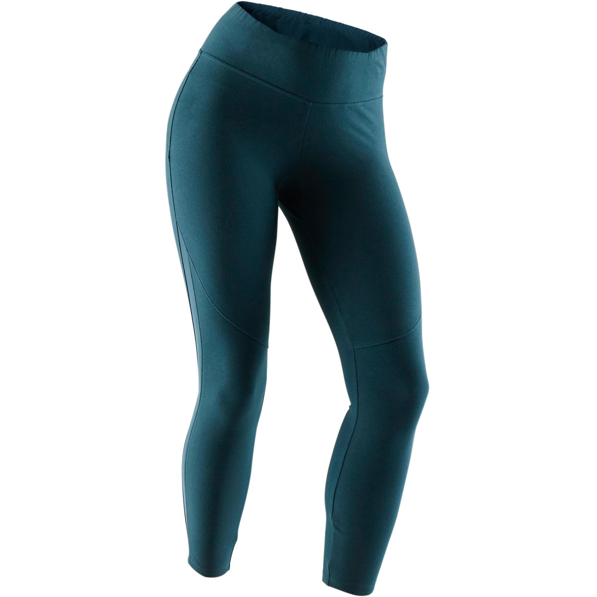 Domyos 7/8-legging 520 pilates en lichte gym dames turquoise