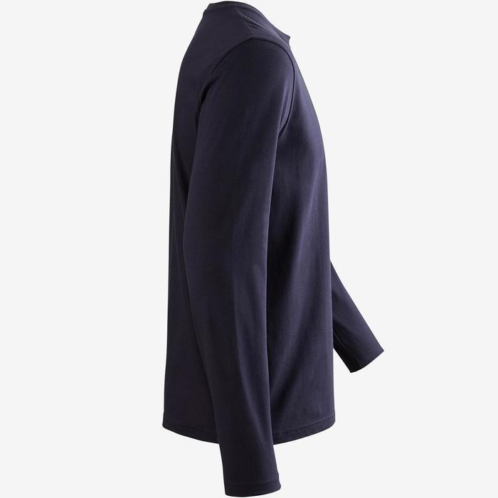 T-Shirt Manches Longues 100 Homme Bleu Foncé