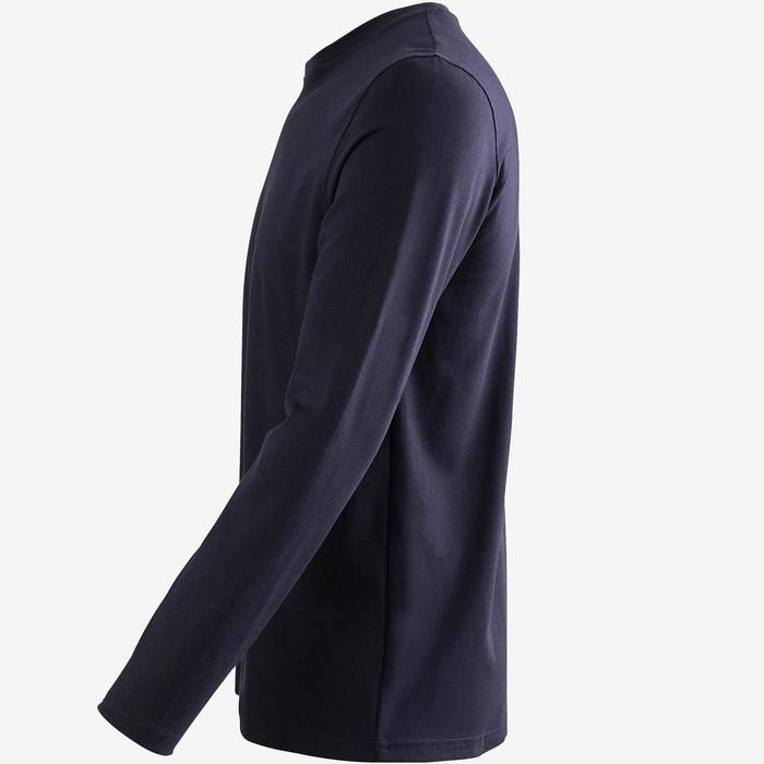 T-Shirt homme 100 manches longues bleu marine