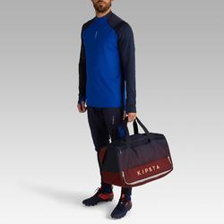 Voetbaltas / Sporttas hardcase 45 liter blauw/bordeaux