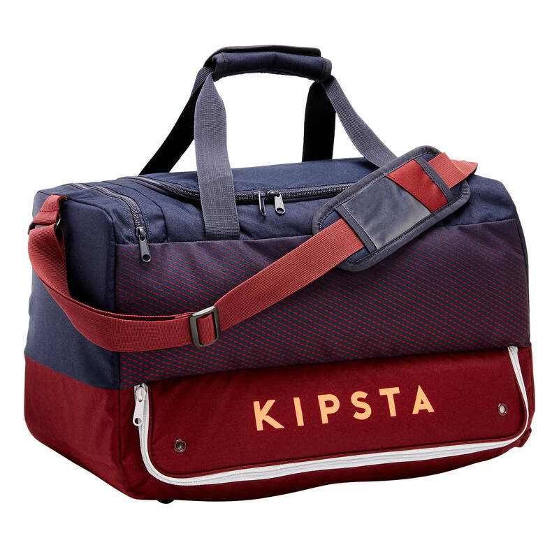 45L Team Sports Bag Hardcase - Blue/Burgundy