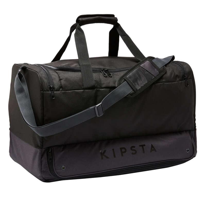Sportväskor lagsport. Lagsport - Väska Hardcase 75 L svart KIPSTA - Rugbytillbehör