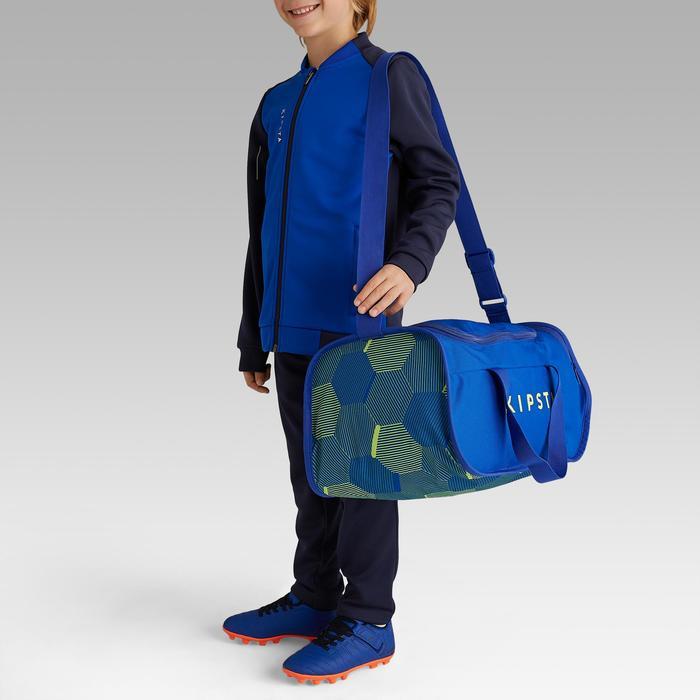 Voetbaltas / sporttas Kipocket 20 liter blauw/geel