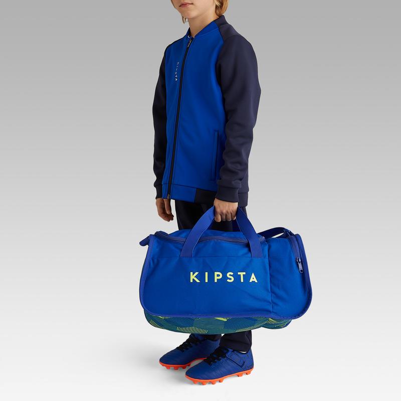 Bolso de deporte Kipocket 20 litros azul y amarillo