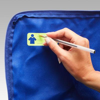 sac de sport Kipocket 20 litres bleu et jaune