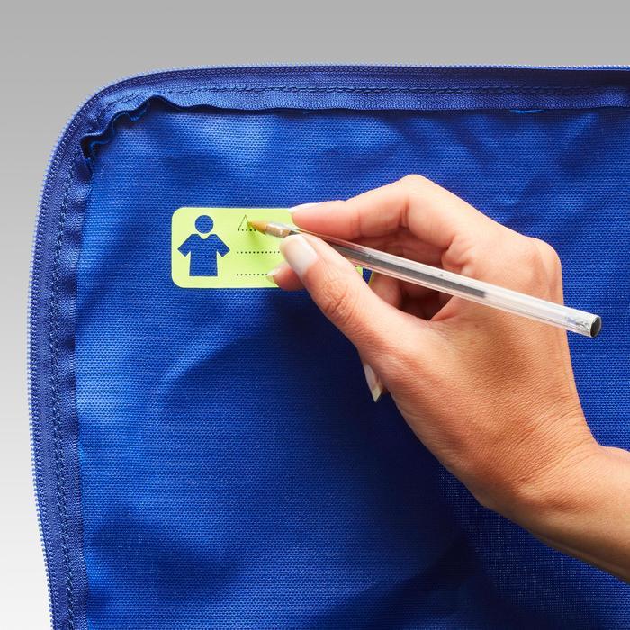 Sporttasche Kipocket 20 Liter blau/gelb