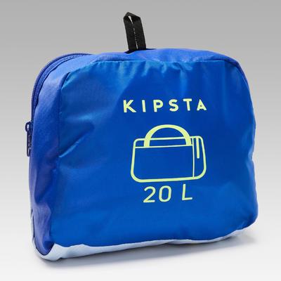 Bolso Deporte Kipsta Kipocket 20L Azul Amarillo