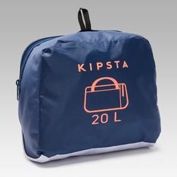 運動包Kipocket 20 L-藍色/橘色