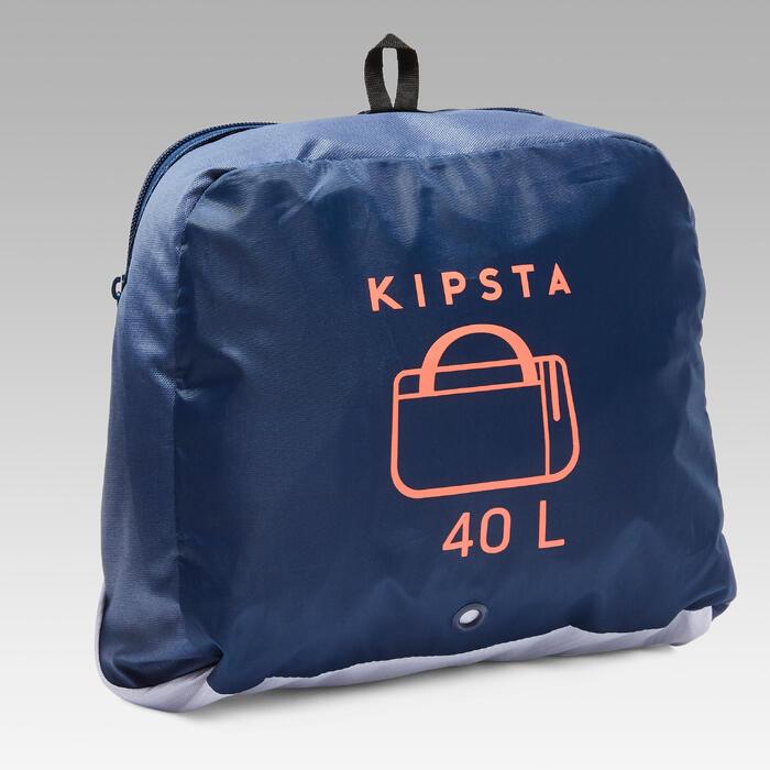 Bolsa Deporte Kipsta Kipocket 40L Azul Naranja