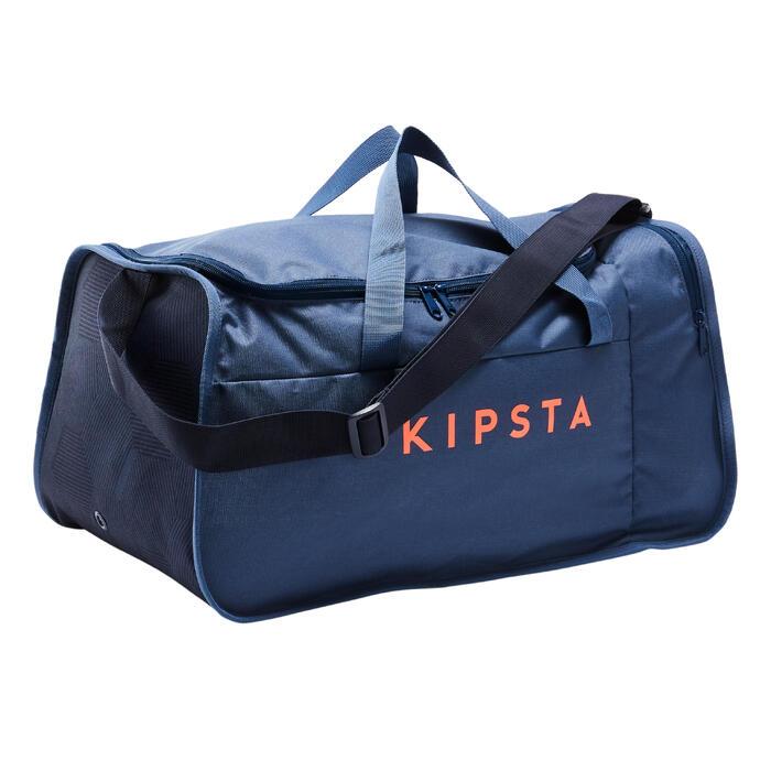 Sporttas Kipocket 40 liter blauw en oranje