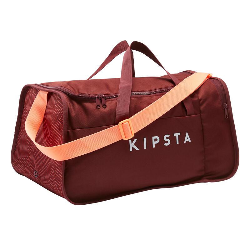 Bolsa de Deporte Kipsta Kipocket 40 litros rojo coral