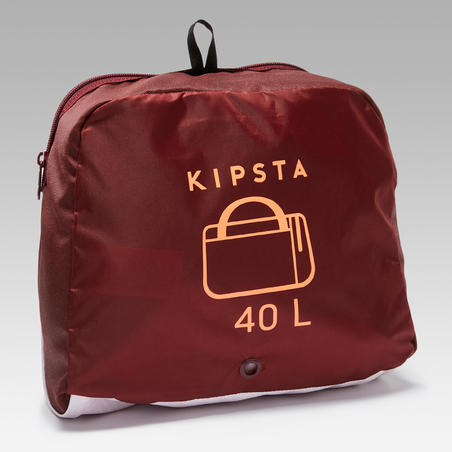 Sac de sports collectifs Kipocket 40 litres rouge corail