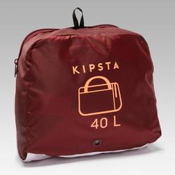 Bolsa de deporte Kipocket 40 litros rojo y coral