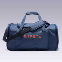 Maleta deportiva Kipocket 60 litros azul y naranja