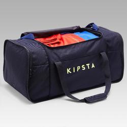 Sporttas Kipocket 80 liter blauw en geel