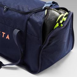Sporttas Kipocket 80 liter blauw/oranje