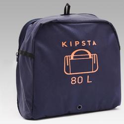 Sac de sport kipocket 80 litres bleu et orange