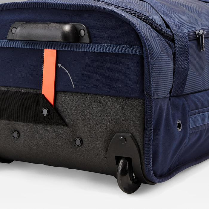 Bolsa con ruedas tipo trolley Classic 70 litros azul y naranja