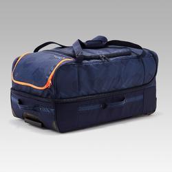 Bolsa de deporte con ruedas Classic 105 litros azul y naranja