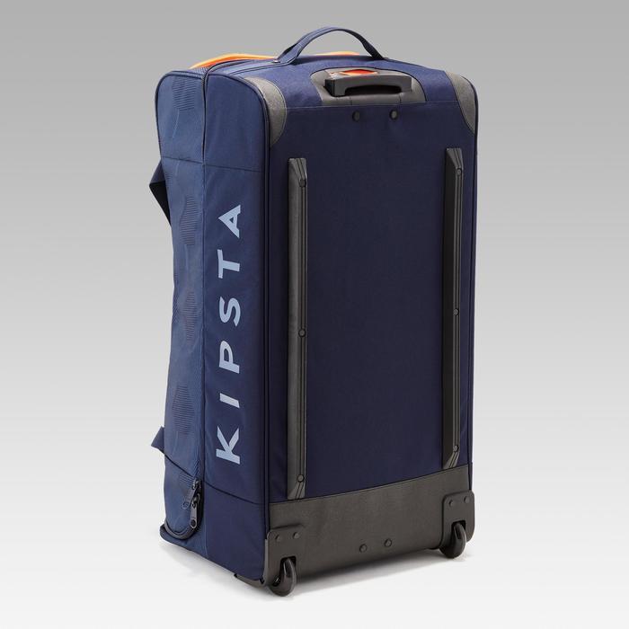 Trolley sporttas Classic 105 liter blauw/oranje