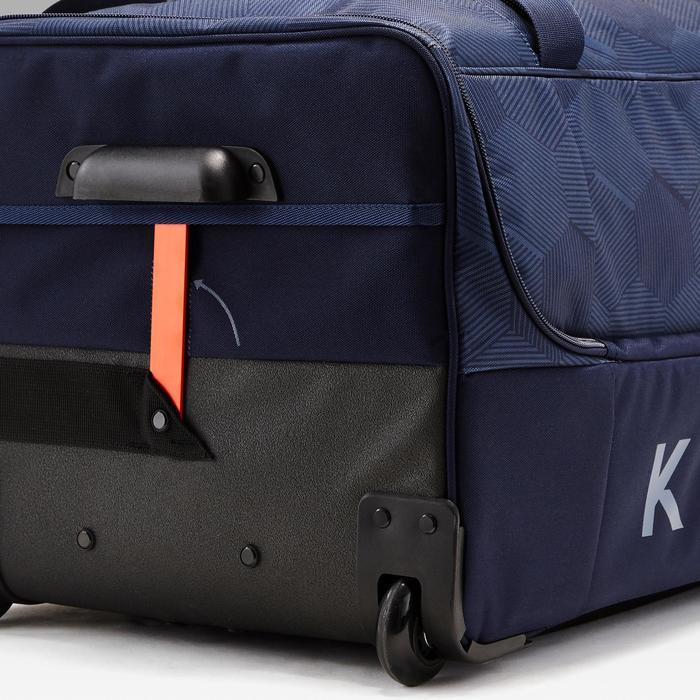 Sac à roulettes trolley Classic 105 litres bleu et orange