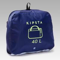 Maleta deportiva Kipocket 40 litros azul y amarillo