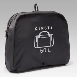 Bolsa Deporte Kipsta Kipocket 60L Azul Naranja Negro