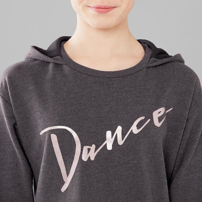 85fe6fa4e23 Sudadera de danza con capucha niña gris Domyos