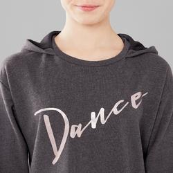 Sweat de danse à capuche fille gris