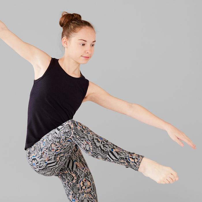 Top mit Rückenöffnung Modern Dance Mädchen schwarz