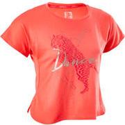 Rožnata majica s kratkimi rokavi za deklice