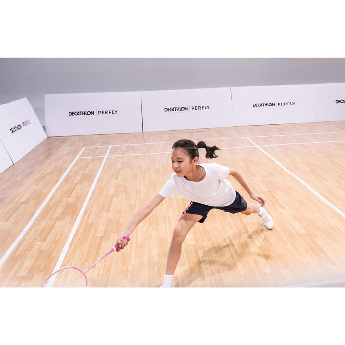 Badmintonracket voor meisjes BR 100 roze