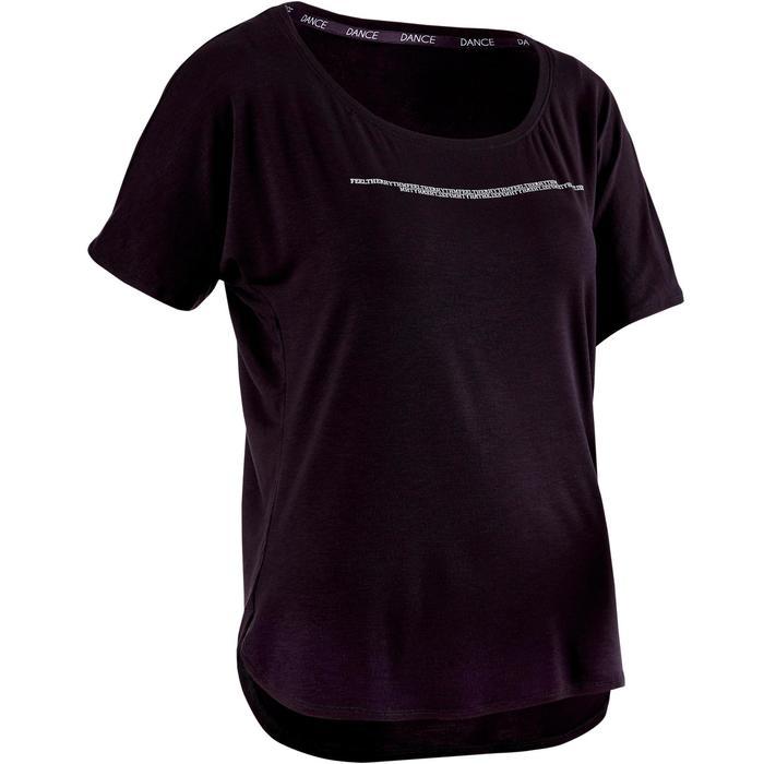 uk availability 5a17a 5fd26 Kort dames T-shirt voor moderne dans zwart