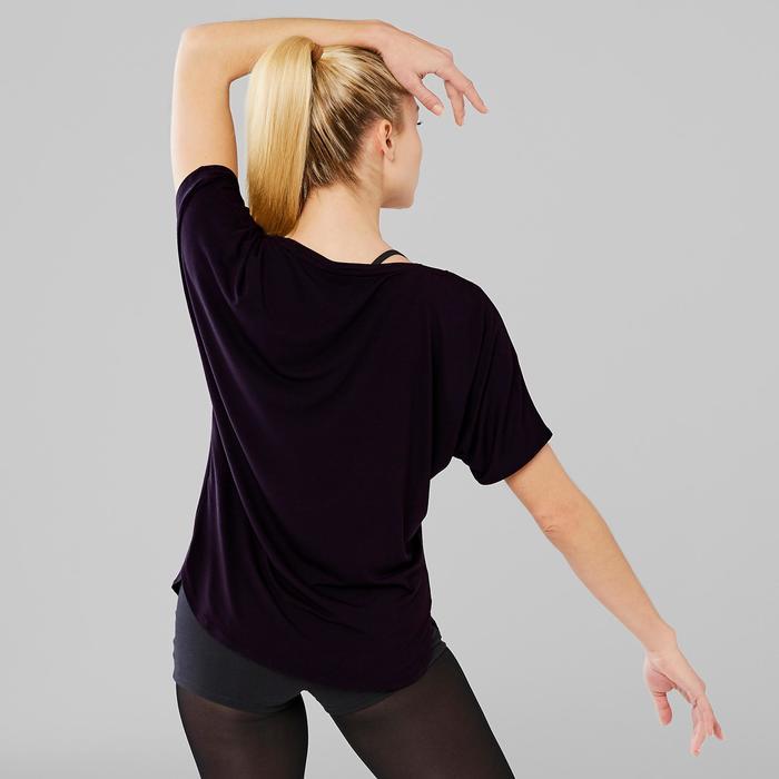Tee-shirt court de danse moderne femme noir