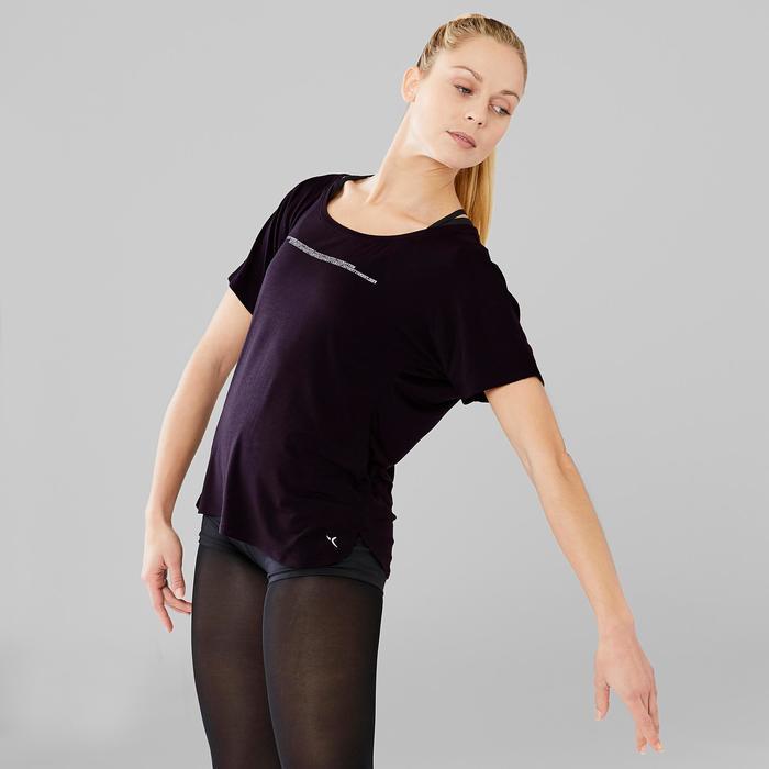 Women's Modern Dance Short T-shirt - Black