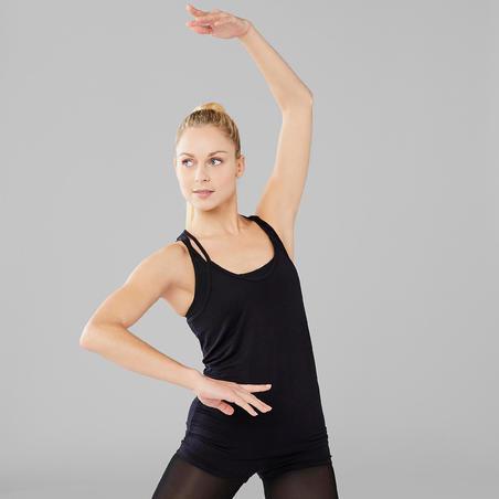 Women's Floaty Modern Dance Tank Top - Black