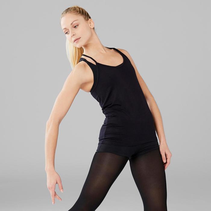 Soepel topje voor moderne dans dames zwart
