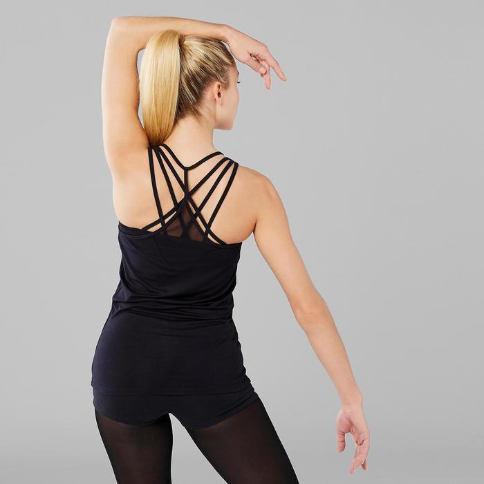 Camiseta sin mangas vaporosa danza moderna mujer negro